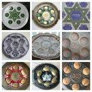 Passover Seder Plate Tray Matzo Brass Bronze Silver Enamel Pesach Kosher Judaica