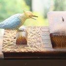 Beautiful Vintage Modele Depose Plastic Bird Cigarette Dispenser Made in France