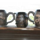 Vintage Ceramic Pottery Beer Cup Mug Tankard Stein with Small Dragon Rare 22cm