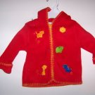 3-6 First Moments Red Hooded Jacket