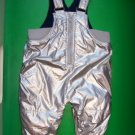 3-6 Baby GAP Fleece Lined Silver Overalls