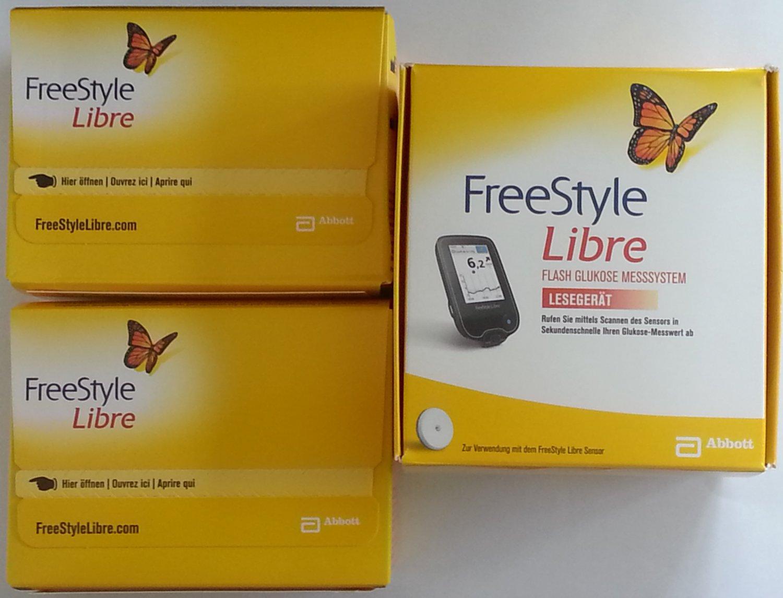 Abbott Freestyle Libre Starter Kit 1 Reader With 2 Sensors