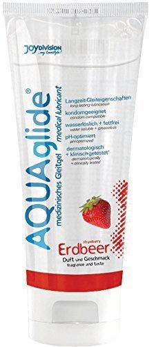 4 Tubes Joydivision Aquaglide Strawberry 100 ml
