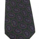 Briar Classic Paisley Necktie Italian Silk Hunter Green Pink Blue Mens Tie Muehlberger's Menswear