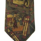 Ralph Lauren Polo Silk Necktie Classic Gold Old School Tartan Mens Tie Brown Green Red Gold
