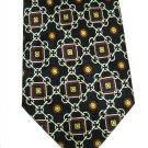 Classic Italian Silk Nectie Viva Mens Tie Black Cream Red Gold Chain Hand Made