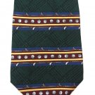 Classic Gold Necktie Mens Tie Silk Payne Stewart Balls Clubs Green Tartan Gold Blue 59 Inch