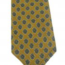 Robert Talbott Silk Tie Mens Tie Italy Mustard Gold Blue Flowers Daisy Best Of Class Woven 59