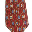 Italian Silk Tie Robert Talbott Necktie Best Of Class Mod Red Blue Gold Flower Scroll 59