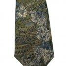 Bill Blass Silk Necktie Mens Tie Paisley Flower Tan Gold Green Classic Designer 56