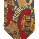 Travel Necktie Mens Tie Cairo Casablanca Bretagne Greece Gold Tan Silk Vintage Design Jonathan 58
