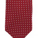 Neo Bill Blass Silk Tie Mens Necktie Crimson Red Blue Gray Diamonds Classic Designer 59