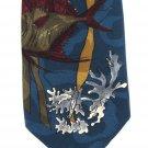 Wembley Starshine Necktie Vintage Tropical Fish Sea Ocean Coral 60s Teal Mens Novelty Tie