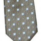 Bergamo NY Tie Mens Long Necktie Classic Black Dot Blue Square Polyester Fashion 59
