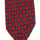 Robert Talbott Best Of Class Tie Mens Skinny Necktie Red Paisley Woven Silk England 58