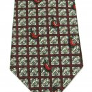 Tabasco Chili Pepper Tie Silk Hot Sauce Spicey Necktie Fun Novelty Cream Maroon Red 58