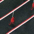 Swinging Monkey Necktie Tootal Vintage Mens Tie England Black Red White Stripe 60s 54.5