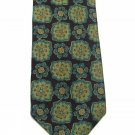 Ledbury Ltd Silk Necktie Mens Tie Tropical Flower Plum Floral Aqua Mustard 57.5