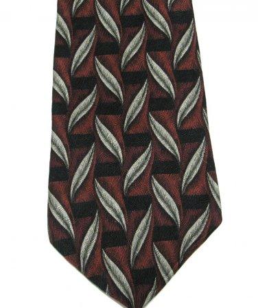 Imported Silk Necktie Mens Tie Secours Designer Fashion Olive Gray Feathers Trellis Maroon Black 59