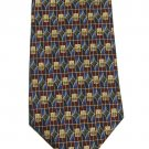 Imported Silk Tie Roundtree Yorke Mens Necktie Maroon Green Diamond Stained Glass 59
