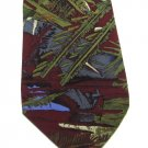 Mens Silk Tie Molecular Expressions Fern Mod Abstract Maroon Green 58