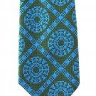 Funky Vintage Necktie Mens Wide Mod 60s Hippie Tie Olive Green Aqua Blue Theater Costume Hipster 54