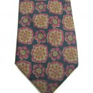 Kenneth Gordon Silk Tie Mens Necktie Orbachs Tropical Flowers Dark Green Rose 57