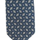 Geoffrey Beene Necktie Silk Mens Tie Steel Blue Green Diamonds Shine Luxury Fashion 58