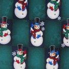 Christmas Necktie Mens Tie Snowman Candy Cane Holiday Green Extra Long Hallmark Silk 60