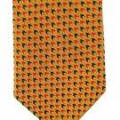 Randa Vintage Necktie Retro Mod Mens Tie Arrow Check Gold Mustard Black Red 50s Fashion 57