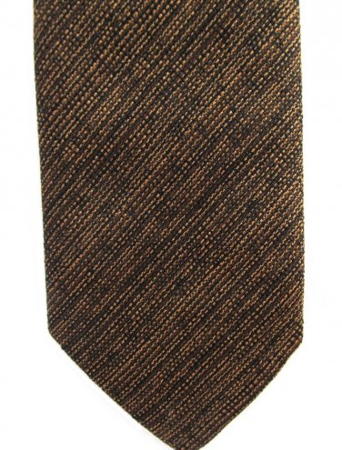 Beau Brummell Vintage Neck Tie Copper Brown Blue Skinny Mad Men 50s Short 53
