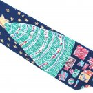 Christmas Necktie Mens Silk Tie Tree Gifts Stars Save The Children Crayon Drawing 58