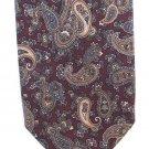 Robert Talbott Italian Silk Tie Mens Skinny Necktie Paisley Classic Maroon Tan Blue Luxury 57