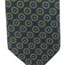 Calvin Klein Silk Neck Tie Mens Designer Fashion Dark Blue Green Cirlces Classic 58