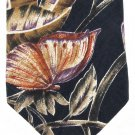 Je Suis Silk Neck Tie Mens Butterlfies Monarch Nature Tropical Black Rose Gold Imported Silk 58