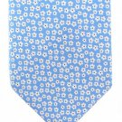 Nautica Extra Long Tie 60 Silk Light Blue Daisy Flower White Small Pattern