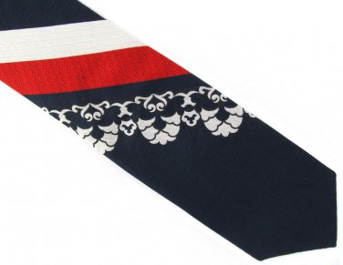 Wembley Vintage Tie Red White Blue Patriotic USA Woven Polyester Wemlon 55