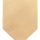 Geoffrey Beene Woven Silk Tie Gold Yellow Pindot Iridescent Luxury Classic 59