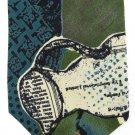 Fabienne Vintage Tie Abstract Green Teal Black Orange Art Pitcher 57