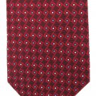 Tom James Silk Tie Woven Foulard Small Mod Classic Maroon Blue White Pindot 58
