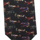 Vintage Airplanes Necktie Tie Aircraft Plane Biplane Wright Flyer Aviation Italian Silk Lucarelli