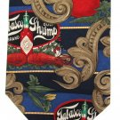 Tabasco Shrimp Necktie Tie Long 59 Hot Sauce Tomato Scroll Blue Red Novelty Grill Cooking