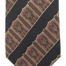 Metropolitan Museum Of Art Silk Necktie Narrow Tie Art Nouveau MET Black Gold Wide Stripe