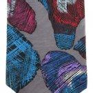 Barry Of London Extra Long 60 Vintage Necktie Tie Abstract Art Gray Purple Maroon Aqua