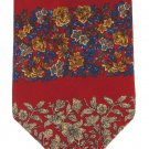 Metropolitan Museum Art Silk Necktie Flowers Art Nouveau Crimson Gold Blue 58
