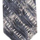 Karl Lagerfeld Silk Necktie 57 Modern Art Stitches Blue Gray Black
