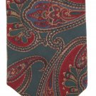 Lord Taylor Silk Necktie Mens Tie Classic Paisley Hunter Green Maroon Tan