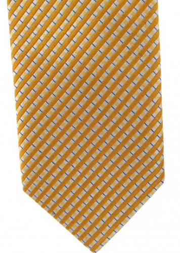 Robert Talbott Best Of Class Silk Tie Long Necktie 59 Narrow  Stripe Holiday Gold Silver Blue
