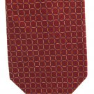 Daniel Cremieux Silk Necktie Extra Long 61 Mens Tie Crimson Maroon Purple Mod Circle