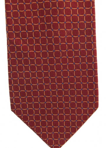 Daniel Cremieux Silk Necktie Extra Long 61 Mens Tie Crimson Maroon Purple Mod Circle